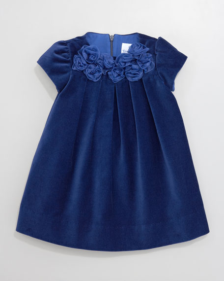 Royal Roses Velvet Dress, 12-24 Months