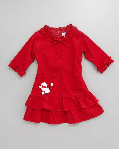 Panda and Poodle Dress, Sizes 2T-3T