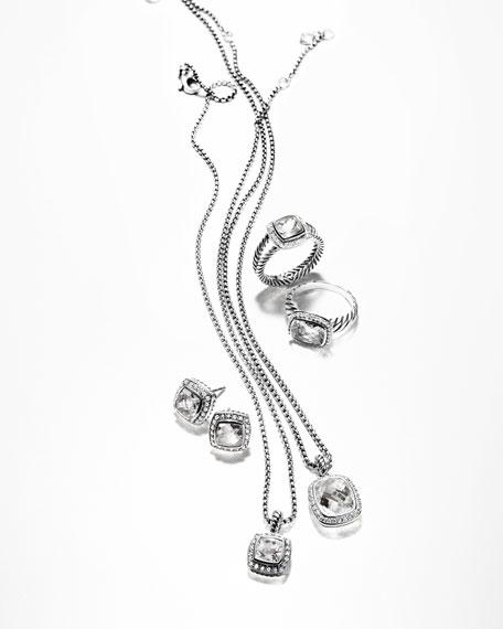 David Yurman Petite Albion Earrings with White Topaz