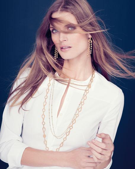 Luminosity Multicolor Diamond Briolette Necklace