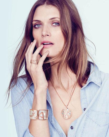 Pave Diamond Graffiti Pendant Necklace