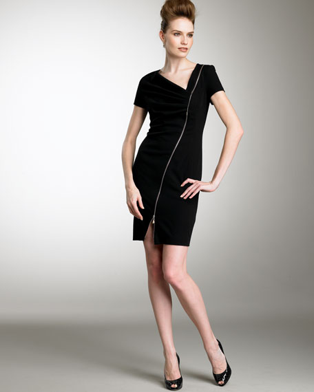 Asymmetric Zipper Dress