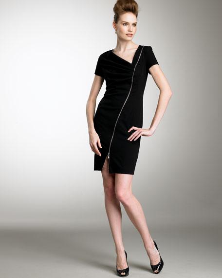 Asymmetric Zipper Dress