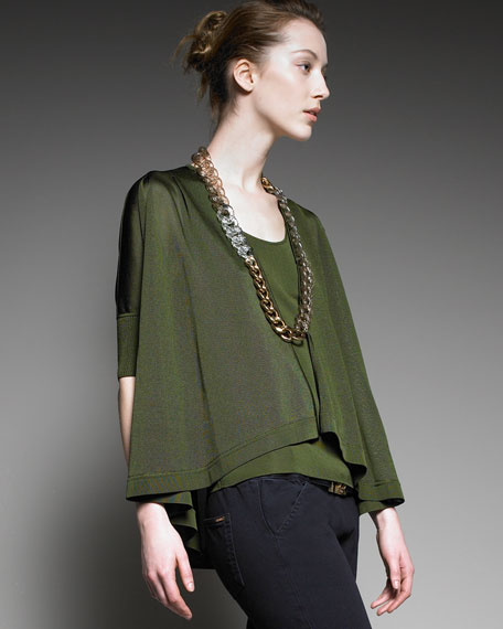 Knit Chain-Necklace Top