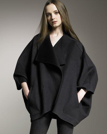 Wool-Mohair Dolman Coat