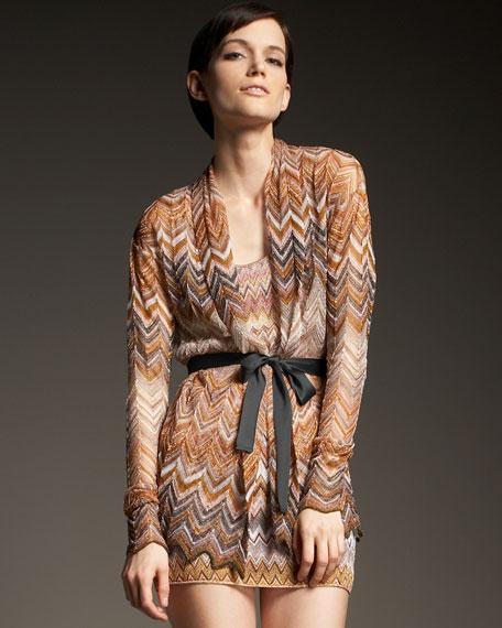 Zigzag-Knit Cardigan