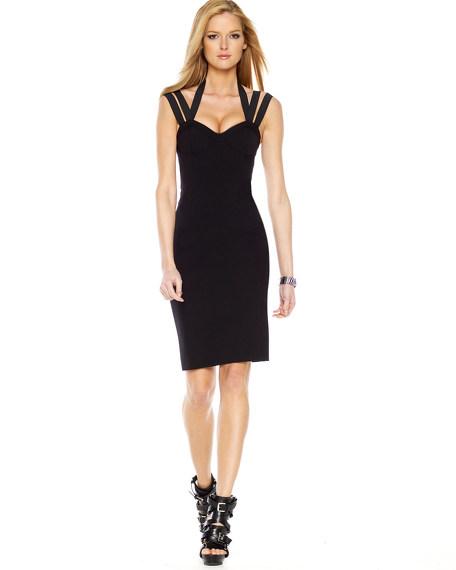Barathea Bustier Sheath Dress