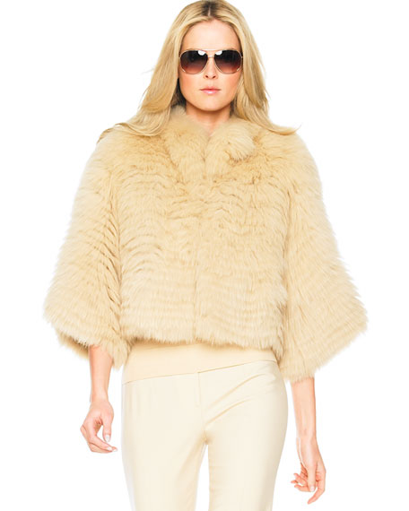 Feathered Fox Cropped Jacket