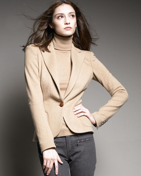 One-Button Cashmere Jacket