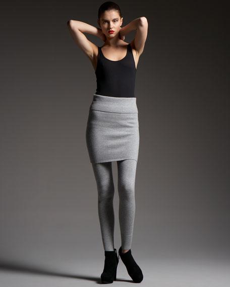 Stretch-Cashmere Miniskirt