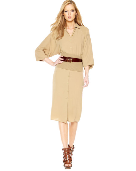 Belted Dolman Shirtdress