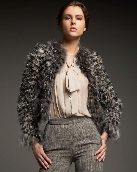 Cutaway Fur Jacket