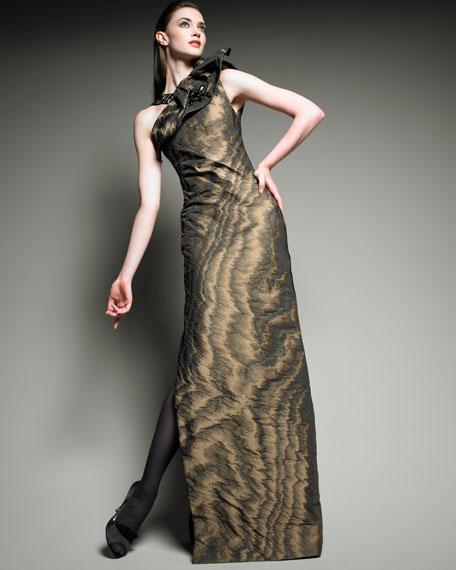 Embellished Ikat Gown