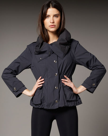 Funnel-Neck Short Jacket