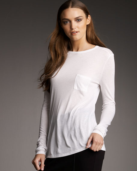 Jersey Pocket Long-Sleeve Tee