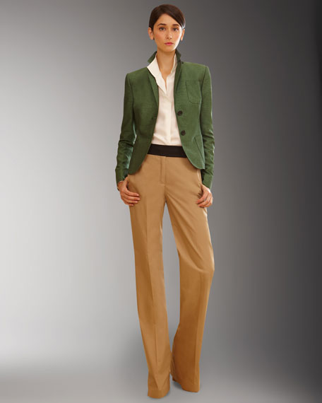 Bi-Color High-Waist Pants