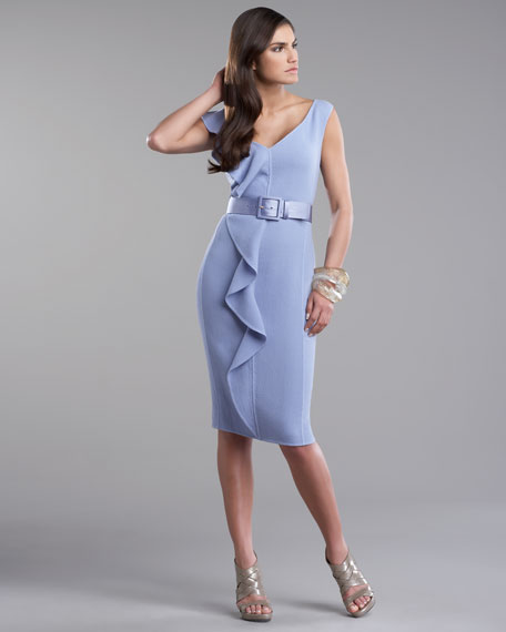 Crepe Ruffle Dress