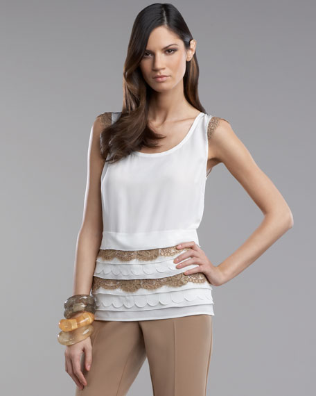 Scalloped-Lace Top