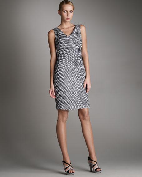 Geometric-Print Wrap Dress