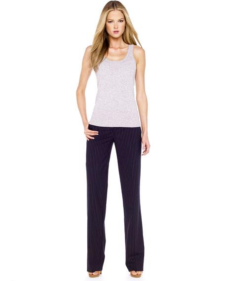 Straight Pinstripe Pants