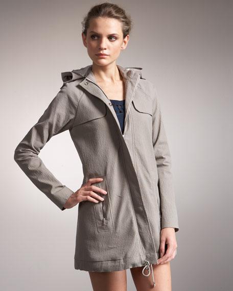 Hooded Zip-Pocket Anorak