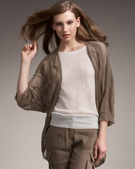 Striped Cocoon Jacket