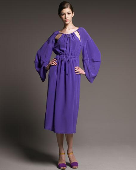Lantern-Sleeve Dress