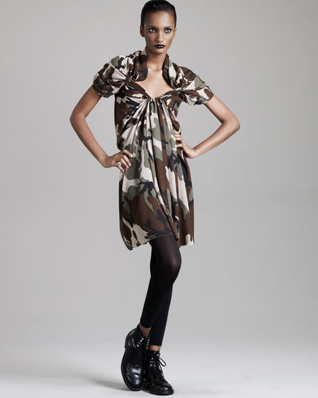 Camouflage Georgette Dress