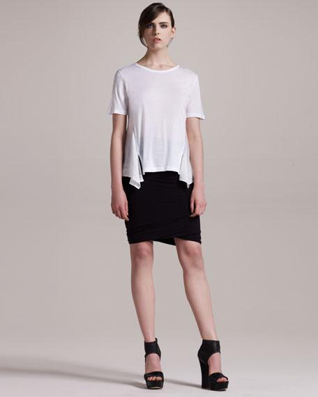 Twisted Jersey Skirt, Black