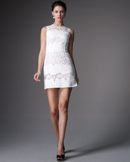 Embroidered Boucle Dress