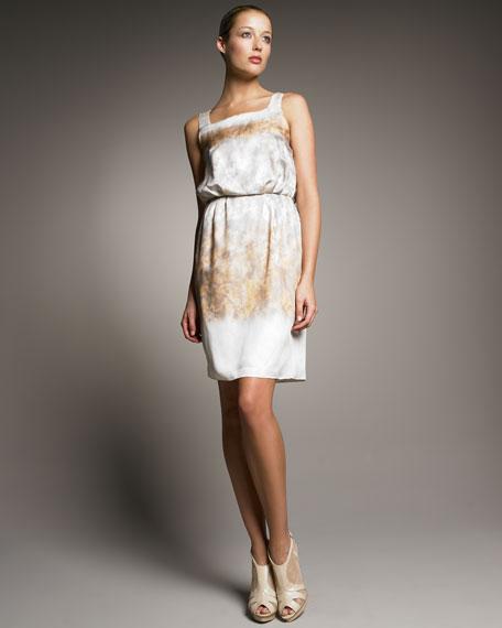 Printed Silk Twill Dress