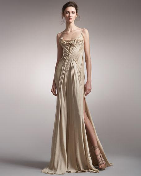Tissue-Crepe Slip Gown