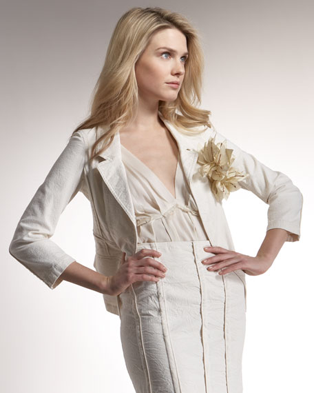 Suiting Jacket with Corsage
