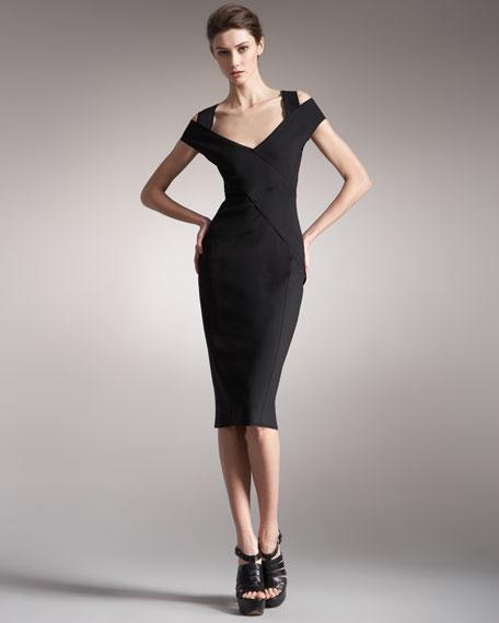 Jersey Cold-Shoulder Dress