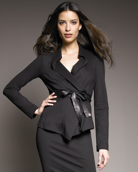 Structured Jersey Jacket