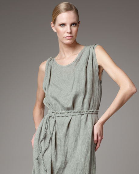 Twisted Belted Dress