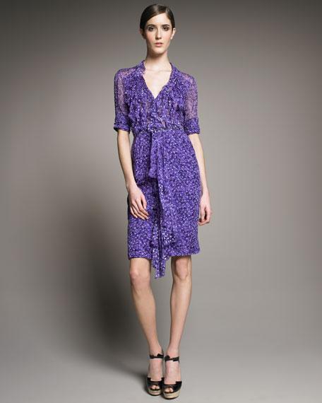 Chiffon Beatriz-Print Dress