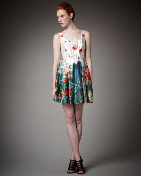 Freya Poppy-Print Dress