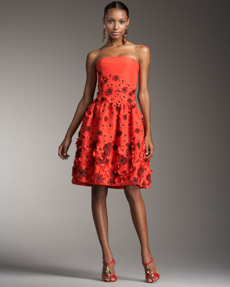 Flower-Applique Dance Dress
