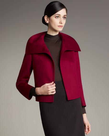 Three-Quarter-Sleeve Short Cashmere Jacket