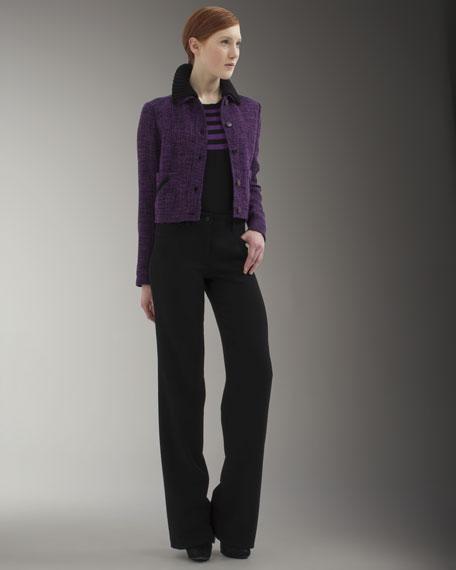Jean-Pocket Wide-Leg Pants