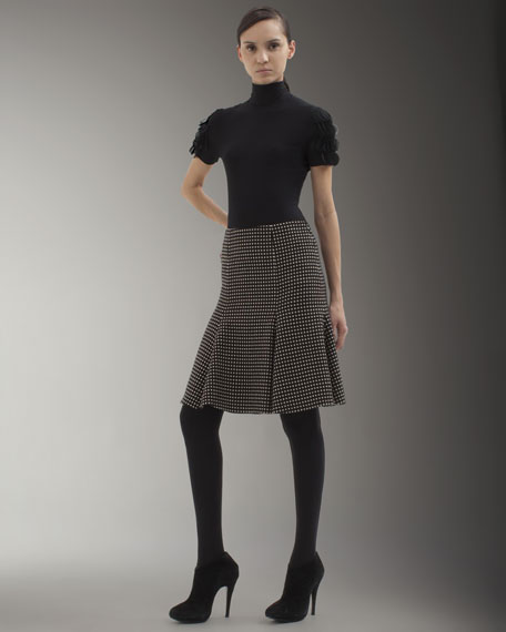 Dotted Bell-Shaped Skirt