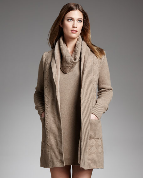 Kingstone Cappotto Mink-Lined Cardigan
