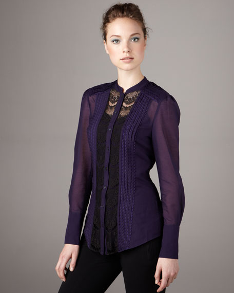 Rodeo Lace-Inset Blouse