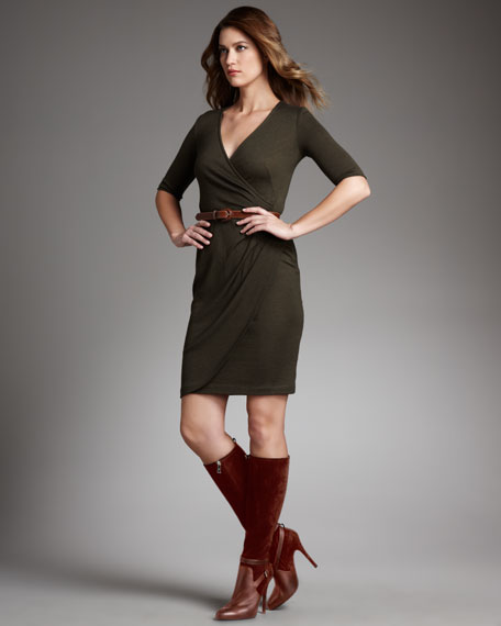 Cashmere-Silk Wrap Dress