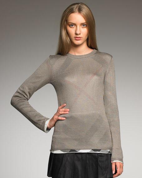 Jersey-Underlay Sweater
