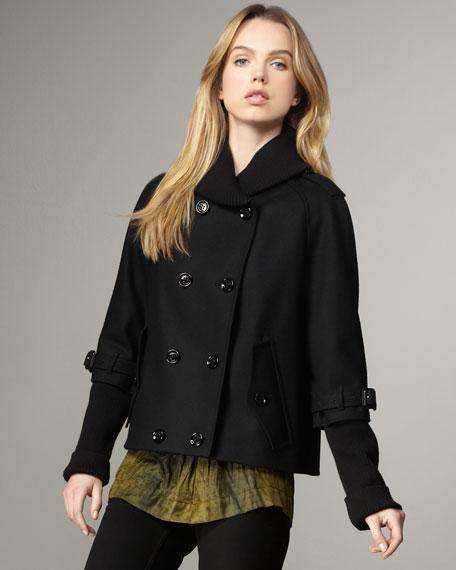 Layer-Sleeve Swing Jacket