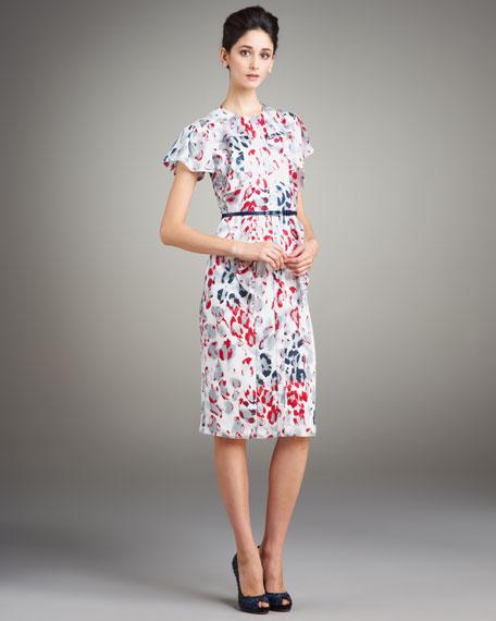 Cheetah-Print Ruffled Dress