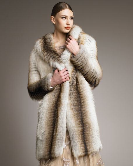 Striped Fox Coat