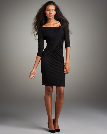 Asymmetric Fitted Jersey Dress